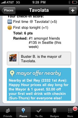 Foursquare offer