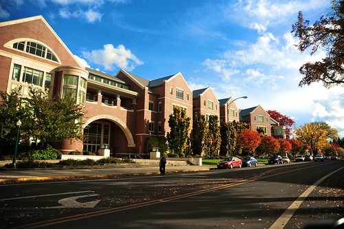 UO Law School building.