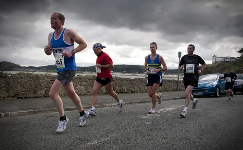 Runners in Llandudno