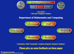 Home page for M&C in 1997