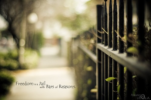 Freedom is a Jail with Bars of Reasons.