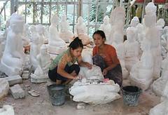 Carving Buddhas in Burma © John Aske