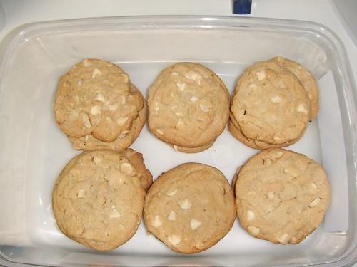 Finished:White Chocolate Macadamia Nut Cookies