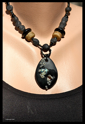 """LOW TIDE"" mixed media barnicle encrusted pendant by Sandra Miller by you."