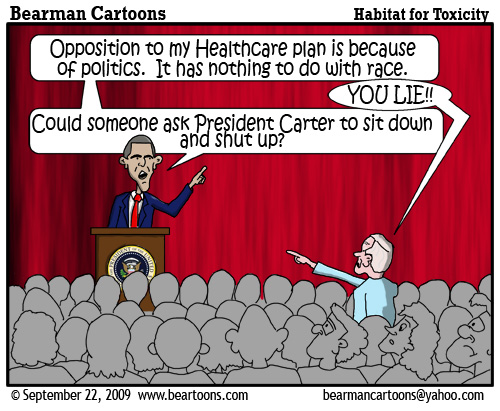 9 22 09 Bearman Cartoon Obama Carter
