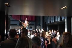 Crowd around the bar