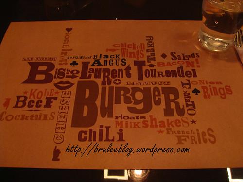 BLT Burger placemat