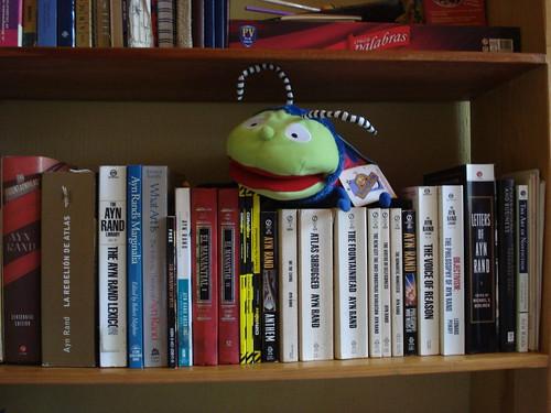 Libros de Ayn Rand que tengo en mi biblioteca
