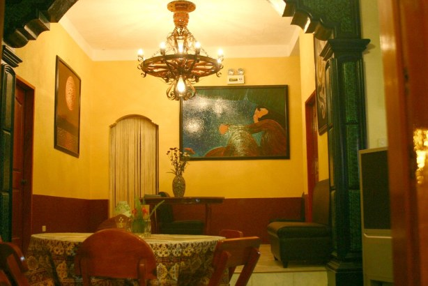 Inside the Old South.  The paintings are by Butch,