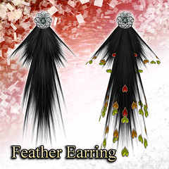 Feather Earring (Earth)