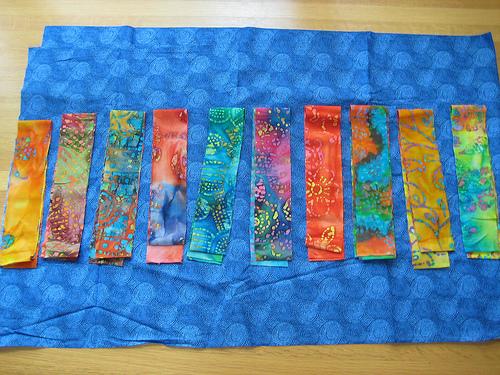 fabrics for 4SQS summer quilt