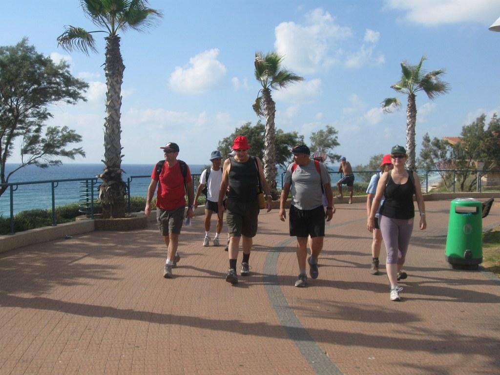 Hiking the Israel Trail, Netanya Promenade