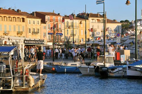 Port de St Tropez: avant le coucher du soleil...