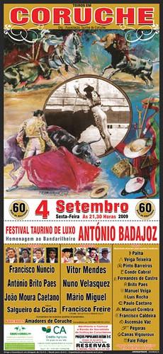 Corrida de homenagem ao bandarilheiro António Badajoz  - Coruche