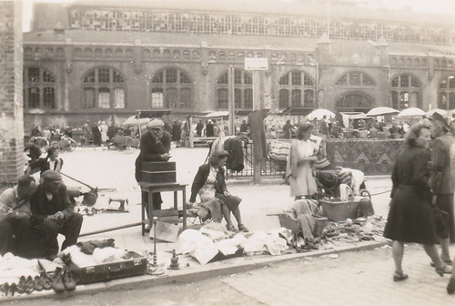 Flea market, Poland, summer 1946