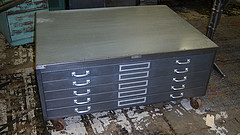 the estate of things chooses steel flat file