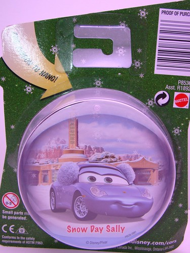 Disney CARS SNOW DAY SALLY GLOBE