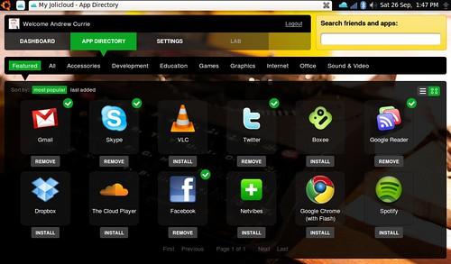 Jolicloud Apps