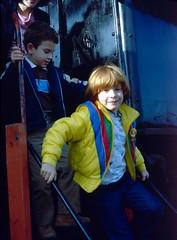 Scott Alan Miller and Amy Hobbs Disembarking Train