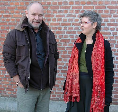 Met Herman aan Café Welkom