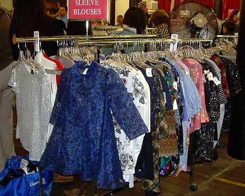 Glittery clothes galore