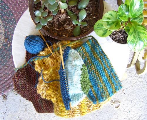 knitting earflaps