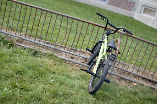 Green Bike Where the Green Grass Grows