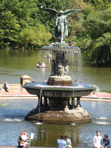 A fountain in Central Park
