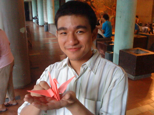Paper Crane #1 | University of the Philippines-Diliman University Student Council Chairperon 2009-2010 Titus C.K. Tan