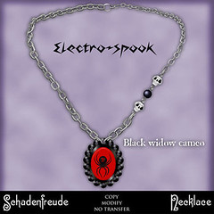 50L Friday - Week 15 - Schadenfreude Widow Electrospook Necklace
