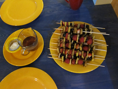 French Toast Kebabs for Breakfast