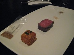 Wagyu Beef course - Dinner at Grant Achatz's Alinea in Chicago