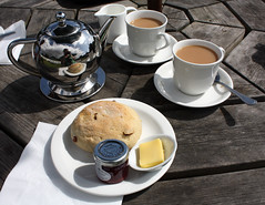 Tea and scone - yummy!