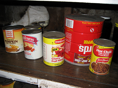 Very old canned goods