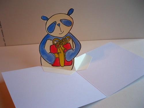 pop up panda card - inside by you.