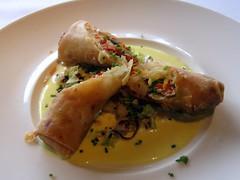 canoe restaurant - shrimp spring rolls by foodiebuddha