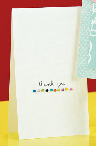 Thank You Dots Card by Angie Hagist, p. 56