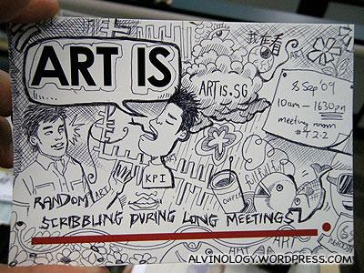 Random scribbling during long meetings.