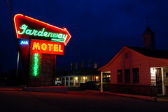 The Gardenway Motel in Villa Ridge, Missouri, is one of the scattered original Route 66 motels still open for business today