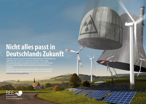 Campaña Publicitaria de la Patronal alemana de las Energías Renovables en contra de las nucleares.