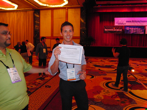 Chris Gwynne of Intermedia.net wins the Affiliate Triathlon at Affiliate Summit East 2009
