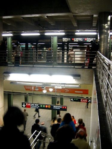 Stairwell in the Atlantic-Pacific station in Brooklyn.
