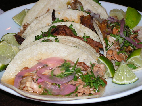 La Verdad's tacos are served family style!
