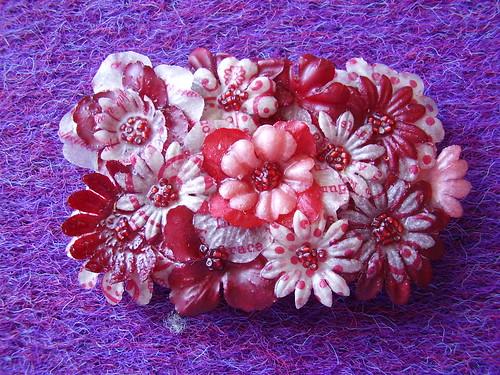 """""""Paper Flowers"""" belt buckle"""