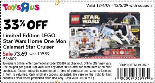 TRU Coupon 33% off Home One