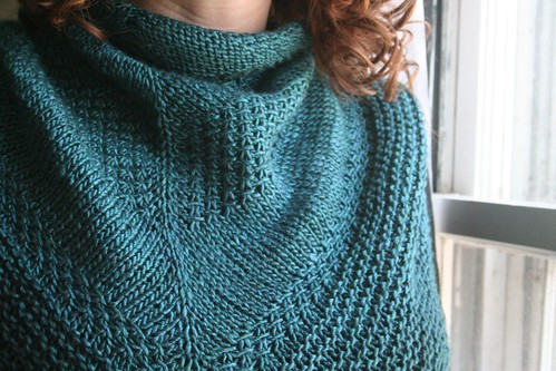 knitted: Textured Shawl
