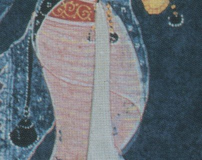 Detail of the gopis - tassels by you.