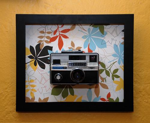 Framed Kodak Instamatic 804 (1963 - film camera)