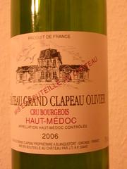 Ch Gd Clapeau Olivier, Haut-Médoc