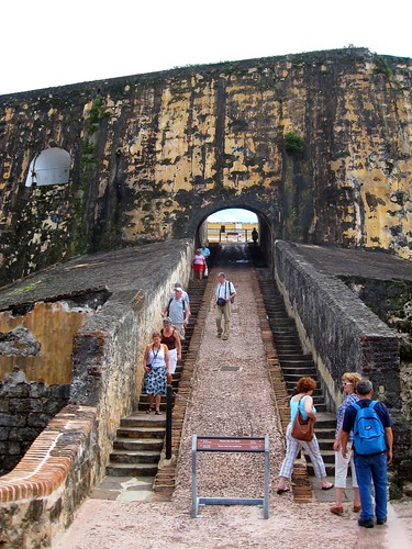 giant staircase at el morro
